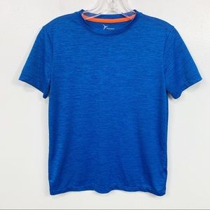 Boys Old Navy Active Bright Blue Short Sleeve Top